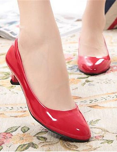 WSS 2016 Chaussures Femme-Bureau & Travail / Décontracté-Noir / Rouge / Blanc-Kitten Heel-Talons-Talons-Similicuir white-us8.5 / eu39 / uk6.5 / cn40
