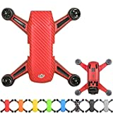 Flycoo Waterproof Anti-scratch Protect Skin Carbon fiber PVC Decal Pattern Sticker for DJI Spark Drone (Red)