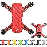 Flycoo Impermeabile antigraffio Protect Skin Adesivo in PVC con decalcomania in vinile per DJI Spark Drone (Rosso)