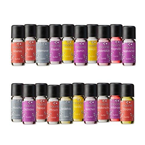 Duftöl Set - Top 20 - 20x feiner Raumduft - Aromaöl für Duftlampe und Diffuser von miaono (Flieder-duft-Öl)