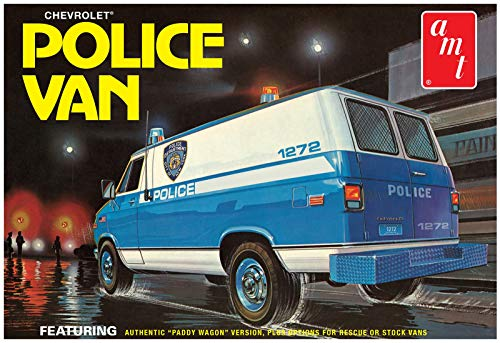 AMT AMT1123 1:25 NYPD Chevy Van, Multi