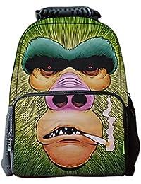 2ae604f91598f2 LAWLAI Zaino Bambini Cartoon Divertente Scimmia Stampa Borsa Scuola Outdoor  Travel Borse Multi-Funzione,