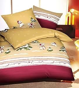 Kaeppel Biber Bettwäsche Schneehase gold 135x200 cm