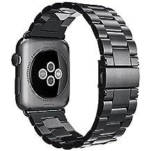 Simpeak Correa para Apple Watch Series 2 / Series 1 Correa Reemplazo para Apple Watch 42mm Correa de Acero Inoxidable Reemplazo de Banda de la Muñeca con Metal Corchete para Apple Watch Todos los Modelos 42mm