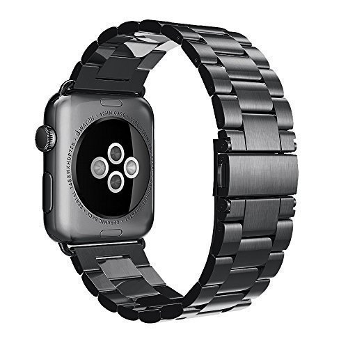Simpeak Stainless Steel Band Strap for Apple Watch 42mm Series 1 Series 2 Black Test