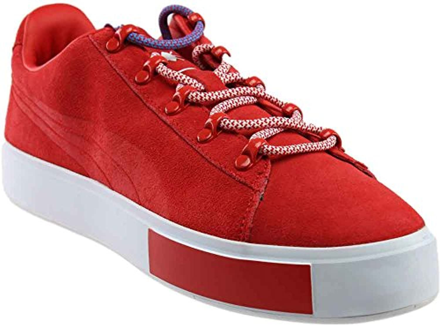 PUMA Men's X DP Court Platform S High Risk Red Ankle High Fashion Sneaker   10.5M