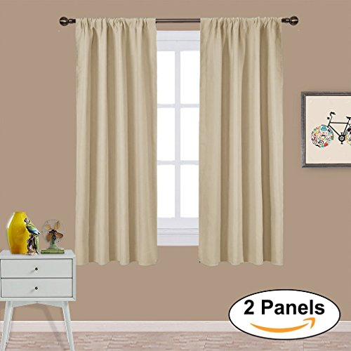Blackout Curtain Panels Window Treatments   PONY DANCE Triple Weave Home  Decoration Thermal Insulated Solid Soft Blackout Curtains   Drapes for  Bedroom   Short Curtains for Bedroom  Amazon co uk. Short Curtains For Bedroom. Home Design Ideas
