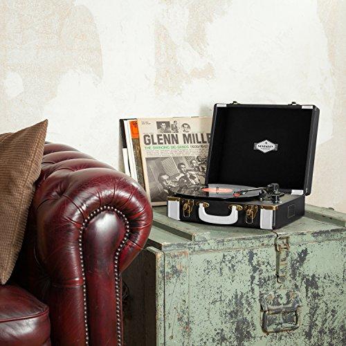 auna Jerry Lee Plattenspieler USB-Anschluss zum Digitalisieren schwarz - 2
