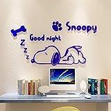 Cartoon Adesivi Murali in Acrilico per Camera dei Bambini Camera 3D Puppy Adesivo in PVC Carta da Parati Home Decor Cane Impermeabile Decal Impermeabile Sfondo 60x32 inch