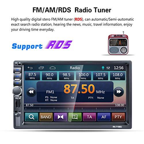RK-7156G 2Din 7inch Voiture MP5 Bluetooth FM/RDS Autoradio HD Car Navigation Multimédia Tactile GPS écran Lecteur USB Support TF