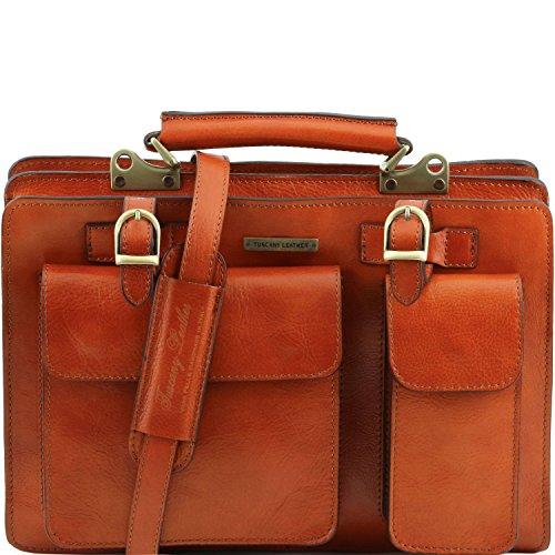 Tuscany Leather - Tania - Damenhandtasche aus Leder - Gross Honig - TL141269/3 Honig