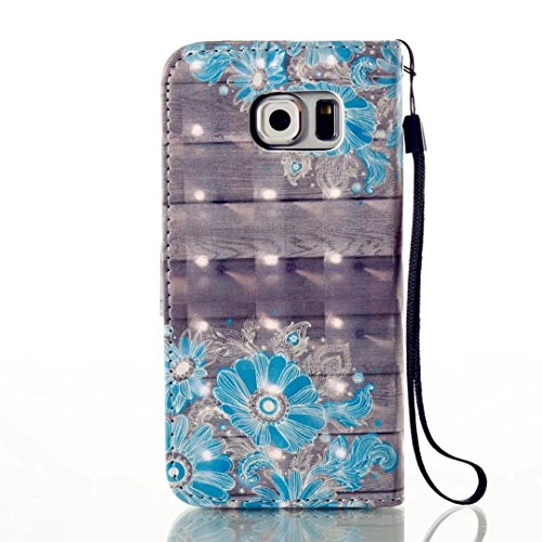 Coque pour iphone SE / iphone 5 / iphone 5S KSHOP Shell Cover Silicone PU en cuir style livert Protection Coque Étui Case Cover avec Stand Support Avec des Cartes de Crédit Slot avec Bouton Magnétique Peint6