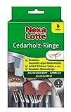 Nexa Lotte Cedarholzringe, Mottenschutz, Natürliches, bewährtes Hausmittel zum Schutz vor Kleidermotten in Kleiderschränken, Schubladen und Truhen mit angenehmen Duft, 6 Ringe