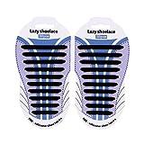 Wwin One Pair 10 Different Size Silicone Shoelace Lazy Nessun legame Tieless pizzo per bambini / adulti Adatto a tutte le scarpe da ginnastica Gomma impermeabile piatta scarpe da corsa piatta