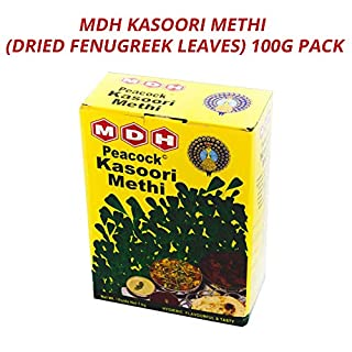 MDH Kasoori Methi (Dried Fenugreek Leaves) | Essential Ingredient for Curries | Quintessential Curry Aroma | Add to Paratha and Naan | Health Benefits | Enriches Hair & Skin | 100G Pack