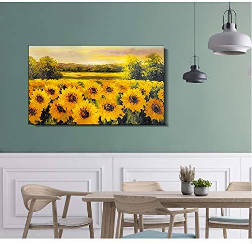 NINI Elektrische heizung malerei heizung Hause 1000 watt energiesparende Kohlenstoff kristall Wand warm Wand fernin infrarot wärme,Sunflowers