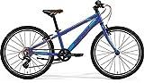 Jungen Fahrrad 24 Zoll blau - Merida MATTS J24 Race Mountainbike - Shimano Schaltung 8 Gänge