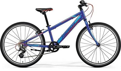 Unbekannt Kinder Fahrrad 24 Zoll blau - Merida MATTS J24 Race Mountainbike - Shimano Schaltung 8 Gänge