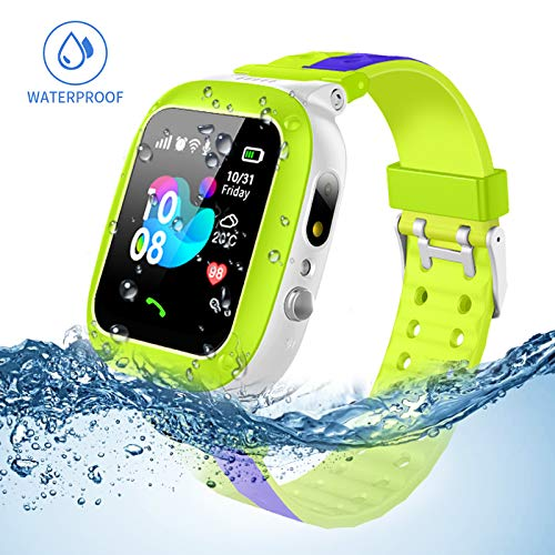 Jslai Niños Smartwatch Imprägniern,Inteligente Relojes Telefono, LBS Tracker de Alarma SOS Infantil...