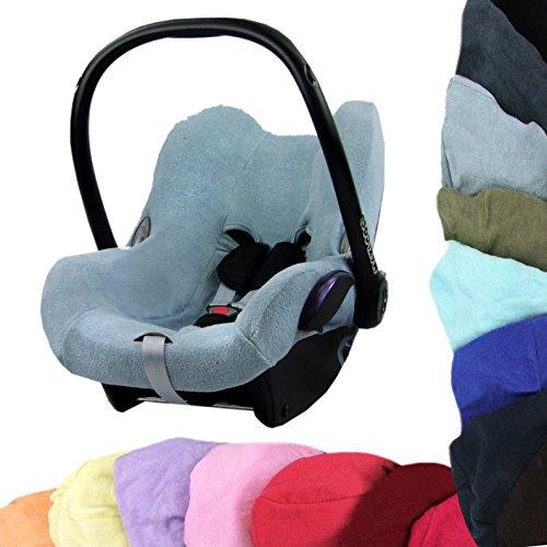 Preisvergleich Produktbild BAMBINIWELT Sommerbezug, Schonbezug, Bezug aus Frottee für Maxi Cosi CabrioFix (BlauGrau)