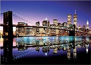 Posters: New York Posters XXL - Aurore Sur Brooklyn Bridge (136 x 96 cm)