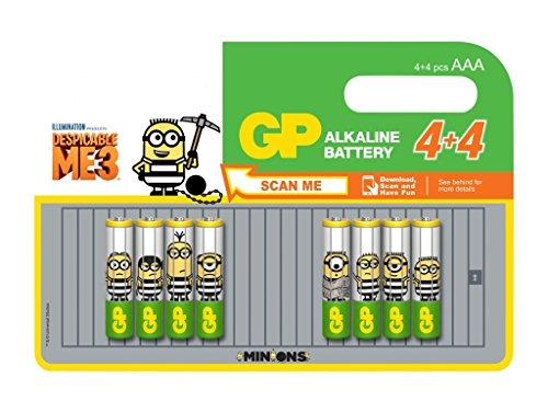 GP Batteries 4+ 4GP Alkaline Super Micro AAA Minions 03024adhc8minions (Minion Computer-tastatur)