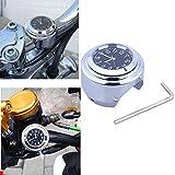 Universal Motorraduhr Motorrad Lenker Uhr wasserdicht schwarz weiss Aluminium 7