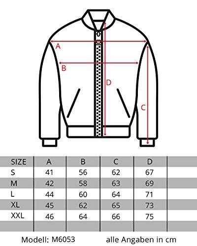 RedBridge Herren Jacke Kunst Leder Biker Geteppt M6013, Größe:M, Farbe:Schwarz 2 - 4
