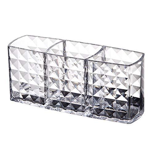 Panamami Zwei-Schicht-Acryl tragbare runde Container Aufbewahrungsbox Fall Make-up Veranstalter Wattepad Box Kosmetik Tupfer Q-Tip-Halter -