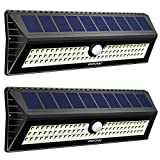 Mpow 77 LED Solar Lights, [Ultra Bright] Security Lights Motion Sensor Bright Wall Lights, 3 Optional Lighting Modes, Large Solar Panel, for Garden, Driveway, Garage, Wall, Walkway (Pack of 2)