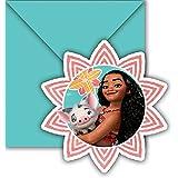 Disney Vaiana Moana EInladungskarten mit Umschlag 6 Stück