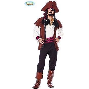 Vestito Caraibi Jack Pirata Guirca Carnevale Costume Sparrow Uomo 56Hxqz