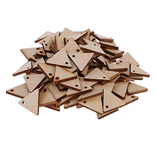 Unfertigen Holz-stücke (Sharplace Holz Dreieck Verzierungen Holz Scheiben Holzscheiben Für DIY Handwerk Basteln Dekoration Karte Machen - 100 Stücke 20mm)