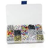 PsmGoods 1100pieces DIY Buchstabenperlen Kinder Perlen-Material 6mm