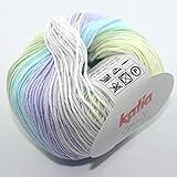 Katia Candy Fb 657 Babywolle Baumwolle Baumwollgarn mit Farbverlauf