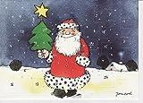 Janosch Adventskalenderkarte Lachender Weihnachtsmann