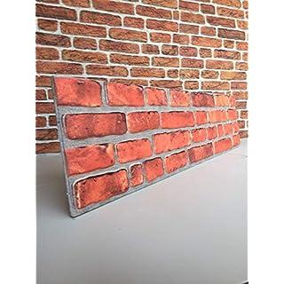 Klinkeroptik Wandpaneele | 120 x 30cm | Wandverkleidung Klinkeroptik Styropor-Paneel (ST 651-017)