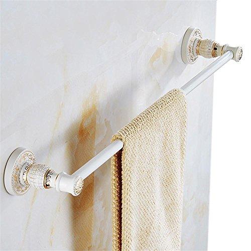 Carolina Trade- Bianco singolo portasciugamani avorio bianco singolo barra di tovagliolo di stile del tovagliolo europea del pendente Hardware Hanging Bagno