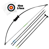 Junxing Recurve Bow 20lb Longbow Toy Bow and Arrow Youth Archery Set and Arrows kids Bow