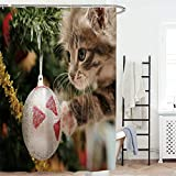 Best Croscill cortina de la ducha - Feidaeu Cortina de Ducha Extra Largo Feliz Navidad Review