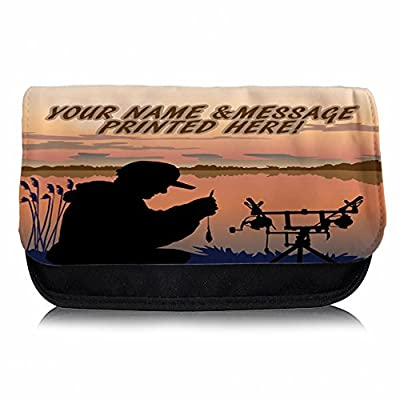 Personalised Carp Fishing At Dawn St156 Pencil Case / Small Wash Bag / Glasses Medication Carrier by Krafty Gifts