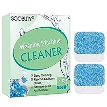 Nettoyant Solide Machine à laver,Washing Machine Cleaner, Nettoyant Pour Machine à Laver et Détartrant Pour Les Odeurs, Nettoyant en Profondeur Avec Décontamination Triple, 15 Pièces