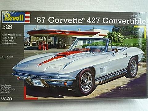 Chevrolet Chevy Corvette C3 1967 427 Cabrio 07197 7197 Bausatz Kit 1/24 Revell Modellauto Modell Auto
