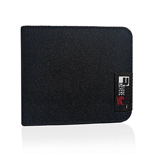 RFID Geldbeutel für Herren. Kleiner dünner RFID-Blocker Schutz Geldbörse, Ausweis- und Kreditkartenetui
