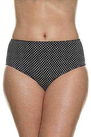 Ulla Popken Femme Grandes tailles Lot de 2 CulottesSexy Taille haute en Coton Stretch - ultra Confortable - Look Tendance noir, blanc 60/62 708517 10-58+