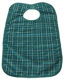 Medium Adult Washable Bib/Clothing Protector - GREEN