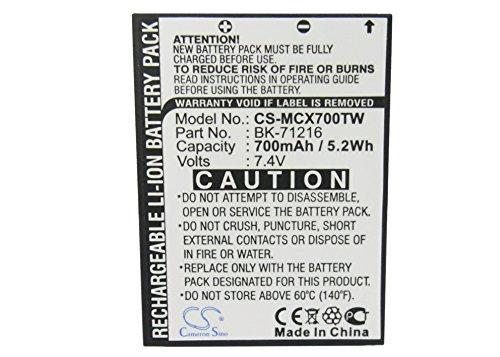 CS-MCX700TW Akku 700mAh Kompatibel mit [Cobra] CXR 700, CXR 750, CXR 800, CXR 850, LI3900, LI3950, LI4900, LI5600, LI6000, LI6050, LI6500, LI6700, [MICROTALK] CXR700 25-Mile Radio, CXR800 27-Mile Rad