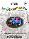The Art of Stone EIN Glücksdrachen für Dich - Motiv 02 Handbemalter Naturstein Unikat Glücksbringer