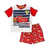 Disney Pigiama Bambino Cars T-Shirt e Pantaloncino in Cotone Stampato 0919 Rosso 3 Anni