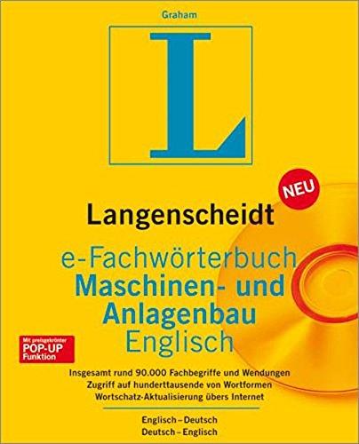 Langenscheidt e-Fachwörterbuch Maschinen-u.Anlagenbau Englisch -